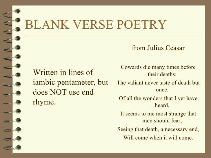 Blank Verse Poetry | DE Creative Writing- poetry | Pinterest ...