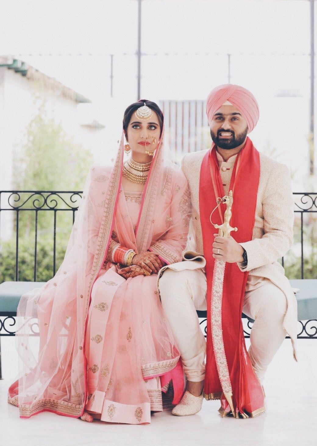Indianwedding Sikhwedding Pastel Wedding Photoshoot Bride Look Bride