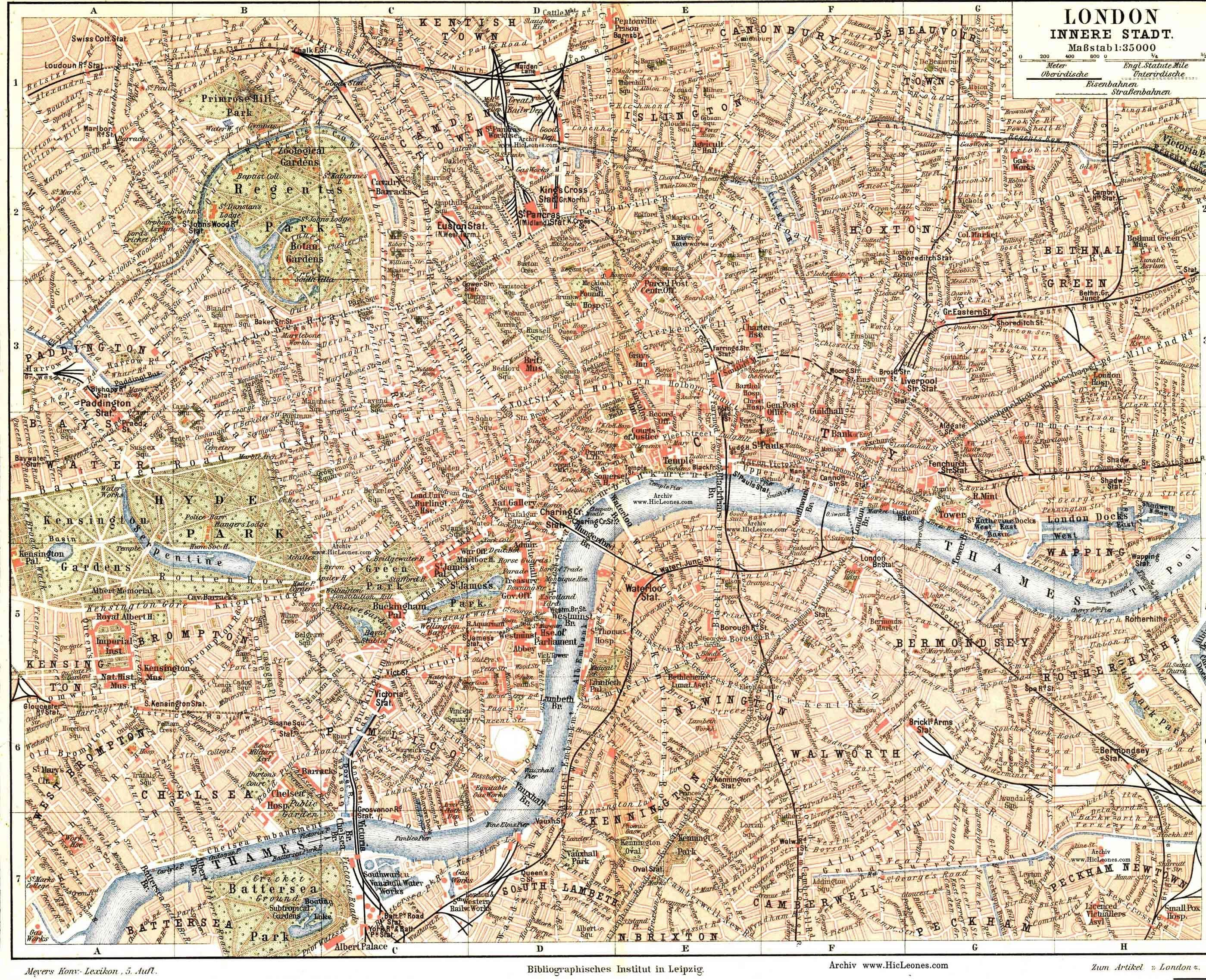 Vintage London Map London London Map Map Free Maps