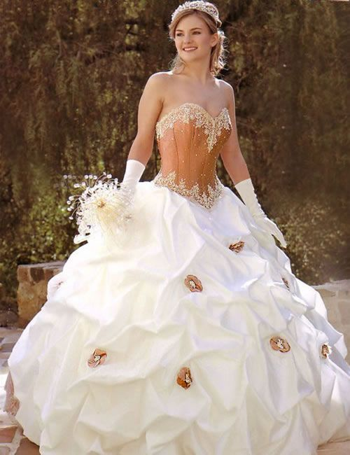 peach colored wedding dress | Peach Wedding Ideas | House Of ...