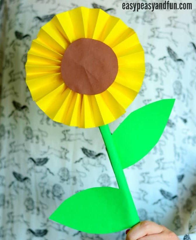 Cara Mudah Membuat Bunga Matahari Dari Kertas Bunga Kertas