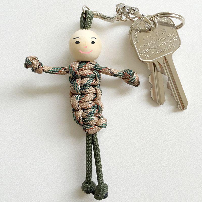 Assez Tressage du bonhomme porte-clefs en paracorde - Tête à modeler  OY36