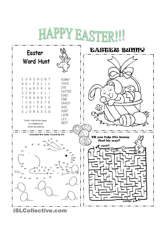 Easter Con Imagenes Ingles Para Ninos Actividades De Ingles