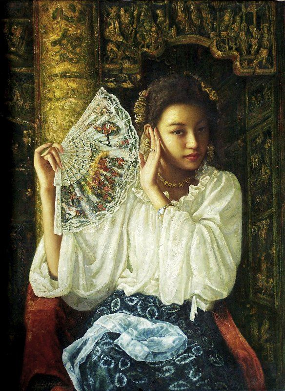 La mujer en la pintura de artista chino Di Lifeng