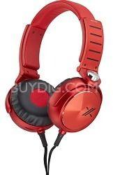 Sony MDRX05/BR X Headphone, Black/Red