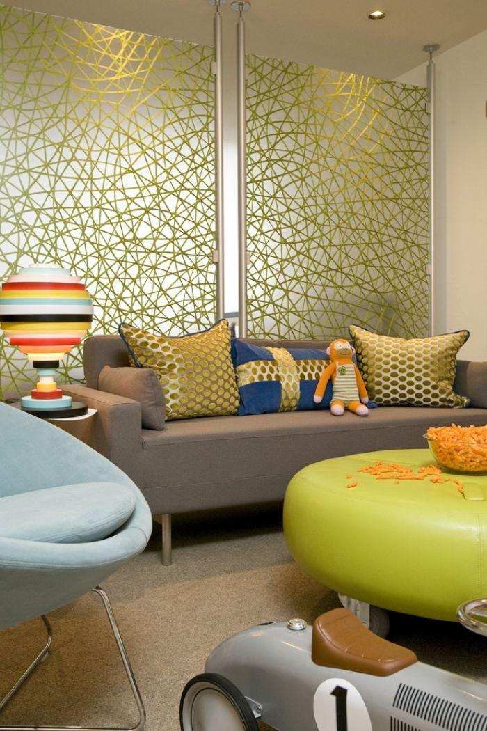 ausgefallene mobel bunte wohnzimmereinrichtung mabel dekorative trennwand gunstig