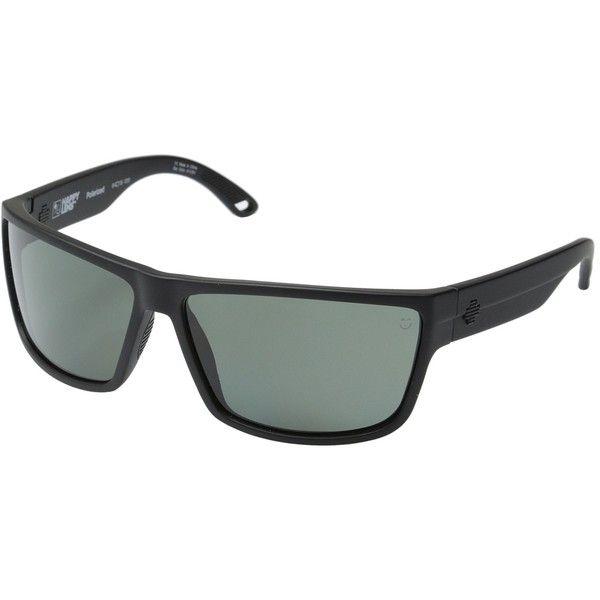 52cef301a5e Spy Optic Rocky (Matte Black Happy Gray Green Polar) Fashion Sunglasses