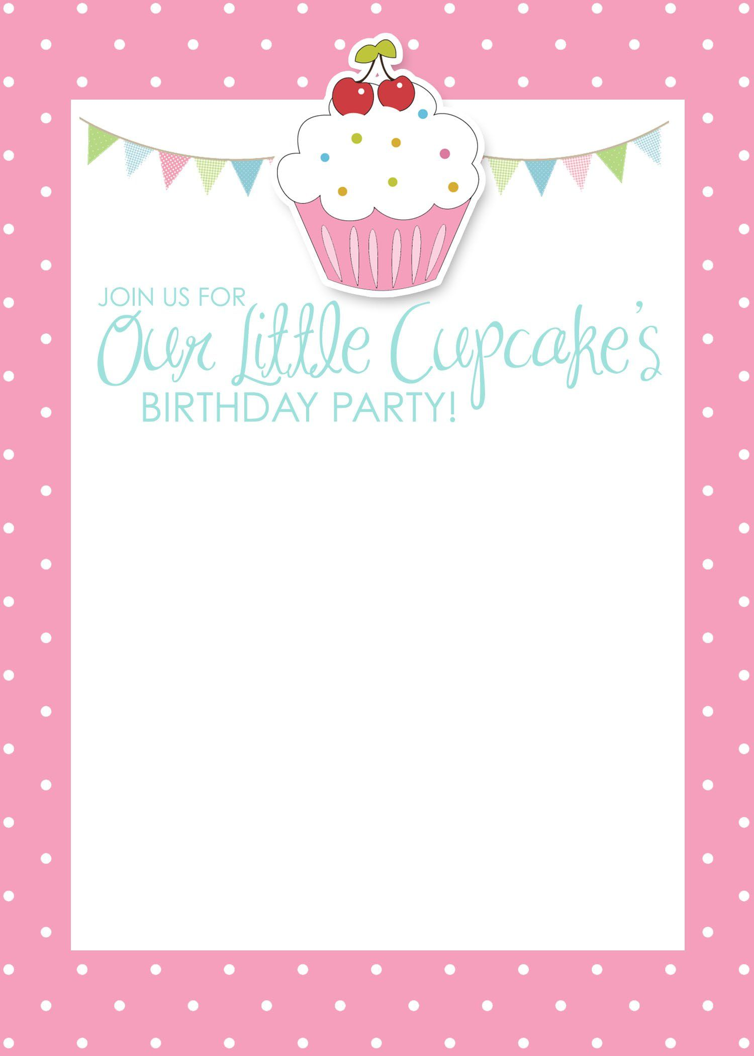 Print Invitation Cards Party Invite Template Birthday