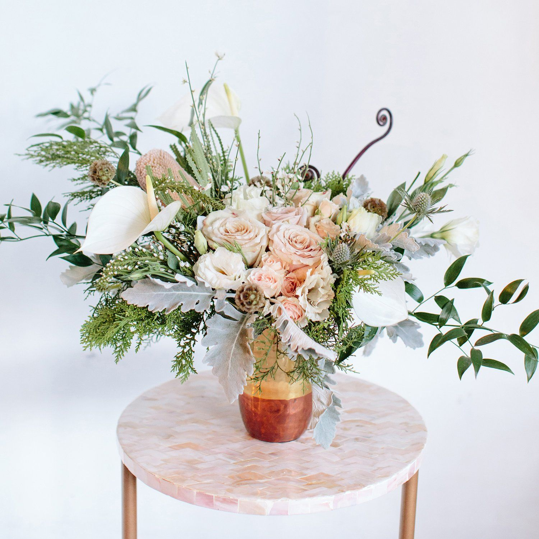 Rosé All Day Arrangement Wedding table centerpieces