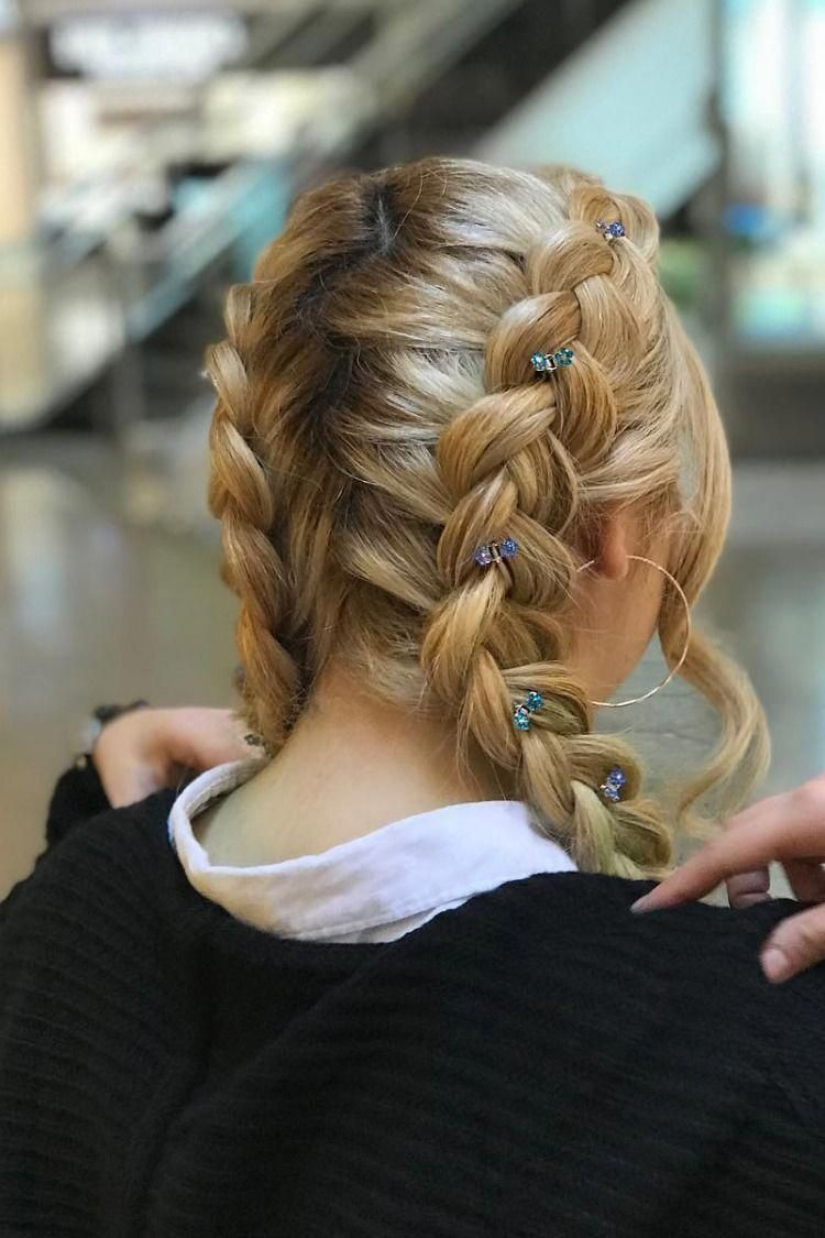 Mini Flower Hair Jaws With Crystal Petals In 2020 Braided Hairstyles Hair Styles Easy Hairstyles