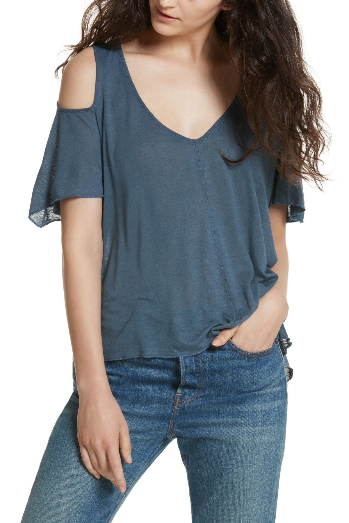 699f94653a4e3 Bittersweet Cold Shoulder Shirt by Free People on  nordstrom rack Free  People