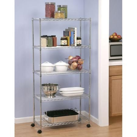 Utility Shelves Walmart Delectable Seville Classics 5Shelf Homestyle Shelving She14305Zb  Walmart Design Decoration