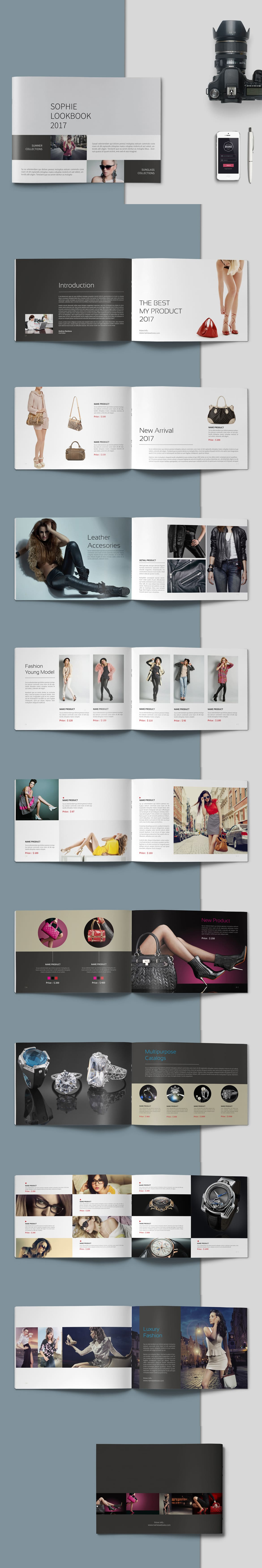 Fashion Lookbook Template InDesign INDD - 20 Pages | Lookbook ...