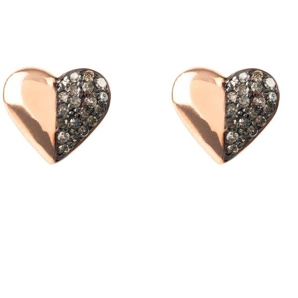 Latelita London Diamond Half and Half Heart Earring XPwI2Nhtm