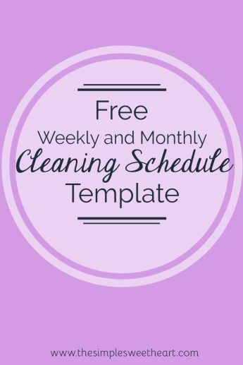 My  New YearS Resolutions Free Cleaning Schedule Template