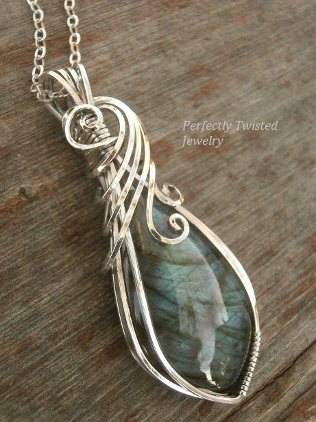 Sold! Labradorite / Sterling Silver Wire Wrapped Pendant by ...
