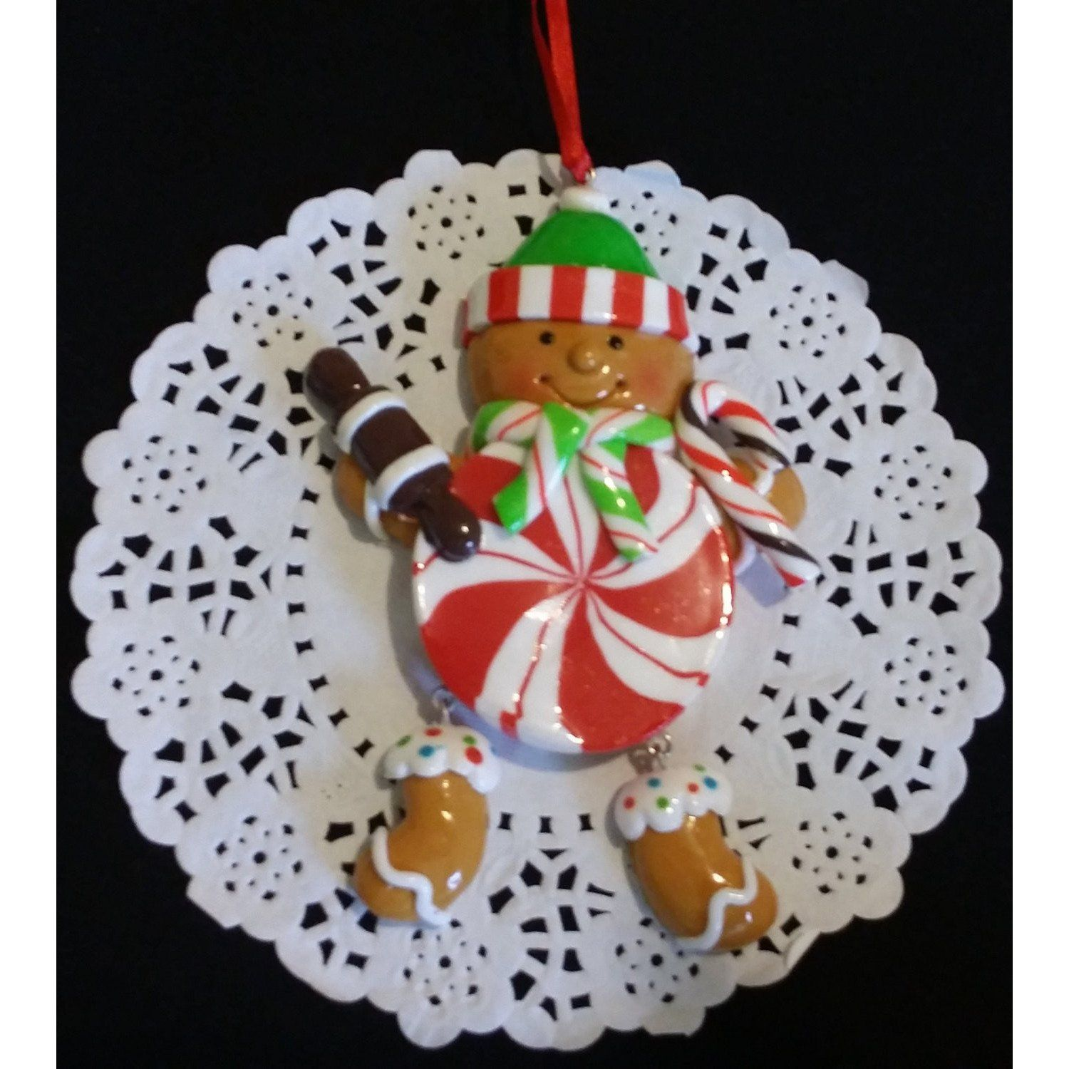 Christmas Ornament, Ginger Cookie For Tree, Ginger Cookie Ornament, Xmas