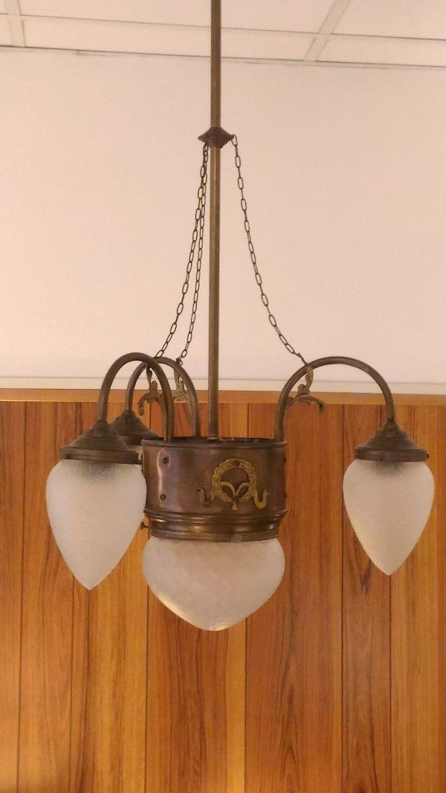 Lampada Da Soffitto Originale Liberty Anni' 30 Lampade