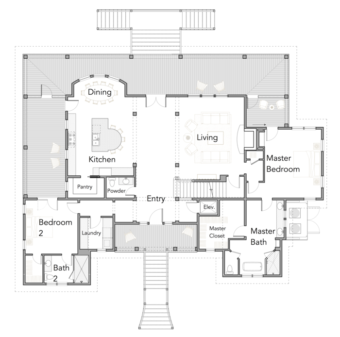 View Oriented House Plans With Porches Ibis Collection Flatfish Island Designs Coastal Home Plan Porch House Plans Retirement House Plans New House Plans
