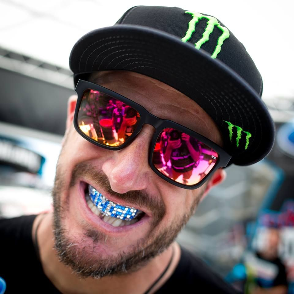 Flossing my Hoonigan grille (aka my rubber rallycross mouth guard).