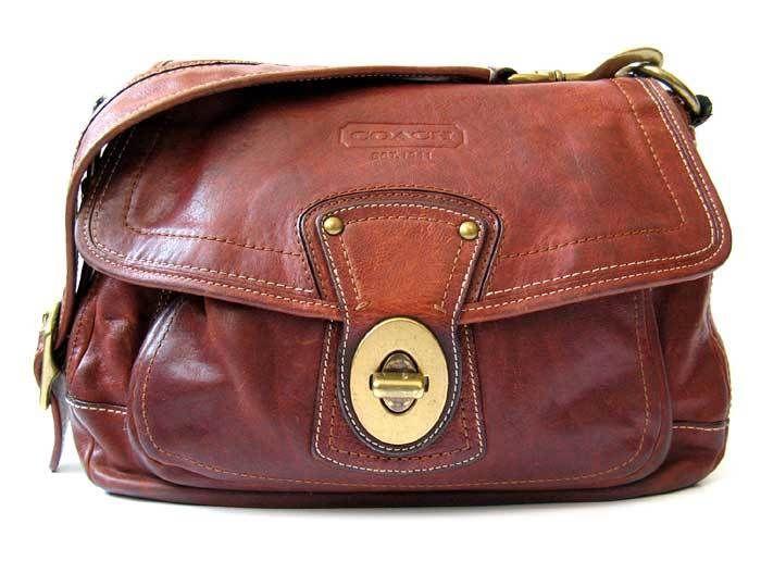 $498 RARE COACH Ali Whiskey Vachetta Leather Legacy Bag Brown *Lovely* #10329 #Coach #ShoulderBag