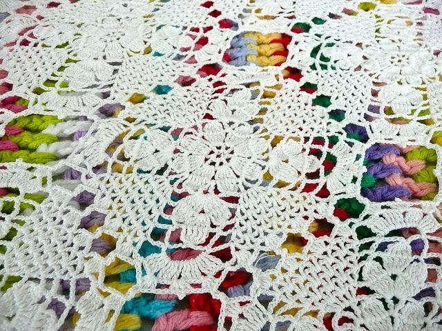 Vintage Table Runner | Manta, Cuadrados y Manteles tejidos