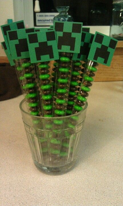 20 Birthday Party Ideas for Boys Minecraft party favors Favors