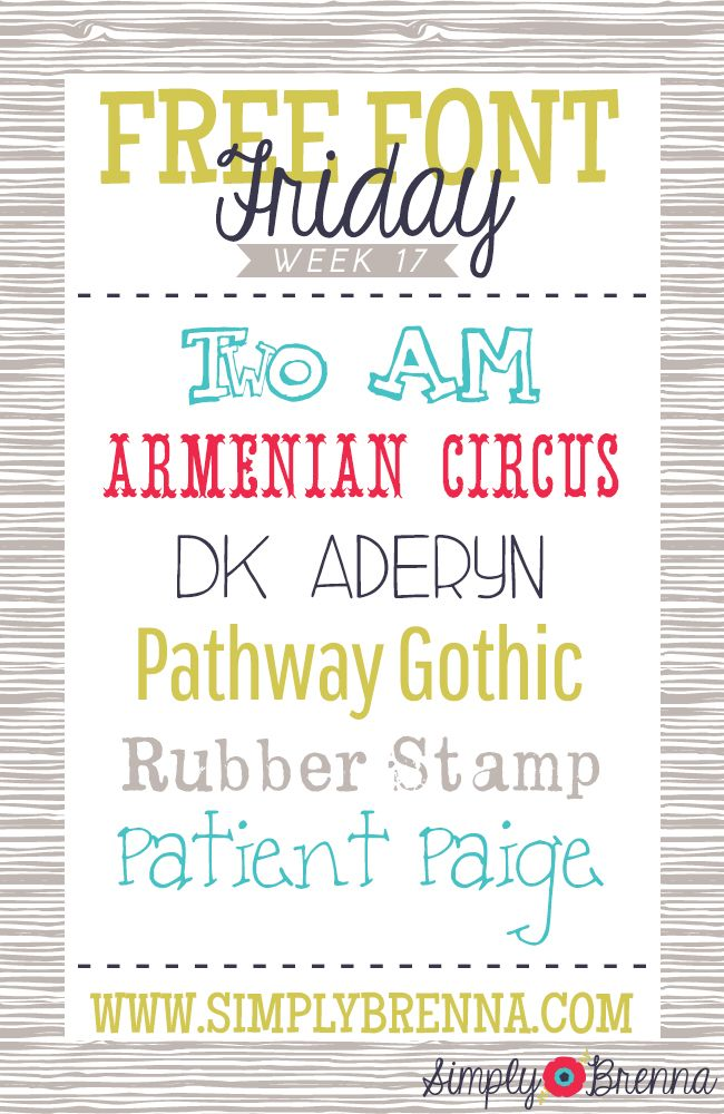 Simply Brenna Free Font Friday Week 17 Scrapbook