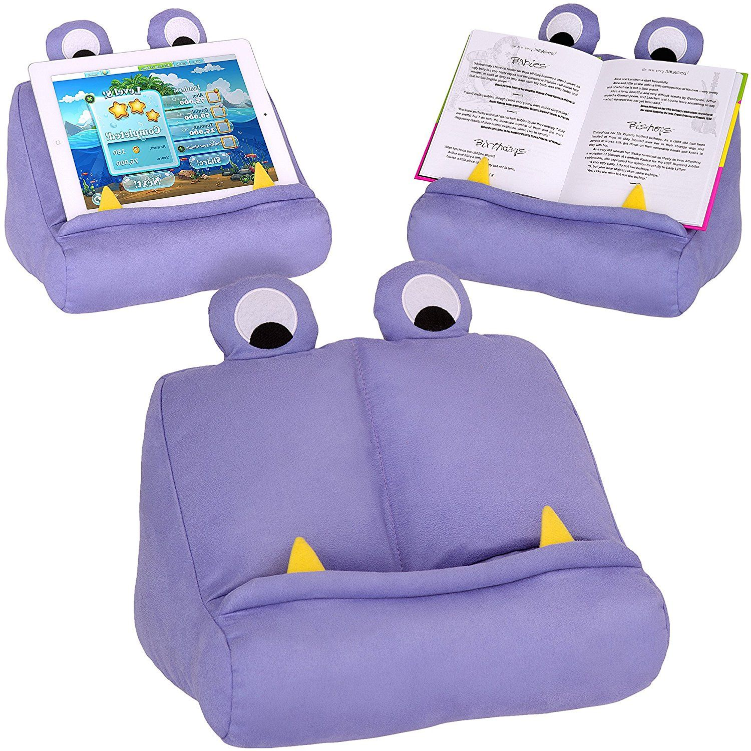 Kids ipad Tablet Holder & Book Stand * Fun Purple Book