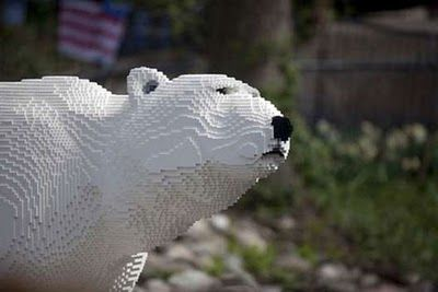 The Endangered Species Print Project Blog : Biodiversity & Art,: Endangered animal sculptures created from...Legos?