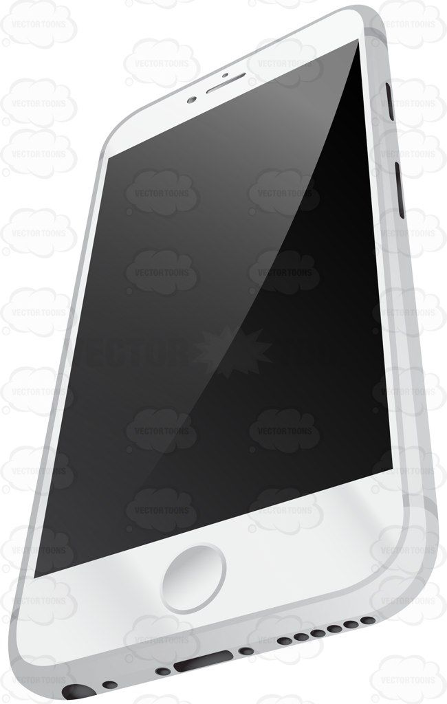 Perspective Vector Image Of Sleek White Mobile Phone With Silver Sides #aluminum #call #callup #cell #cellphone #cellularphone #cellulartelephone #earphone #electronics #gadget #glossy #handhelddevice #ios #iphone #iphone6 #iphone6plus #iphone6 #metal #mobilephone #perspective #phone #ring #screen #slant #smartphone #sound #telecommunicate #telephone #view #white #vector #clipart #stock