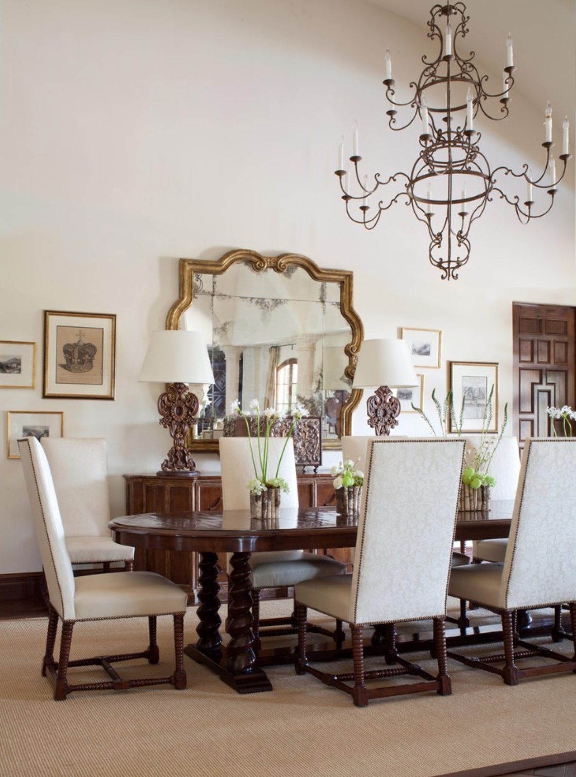 Cherry Hills Spanish Revival Home Mediterranean Dining Room