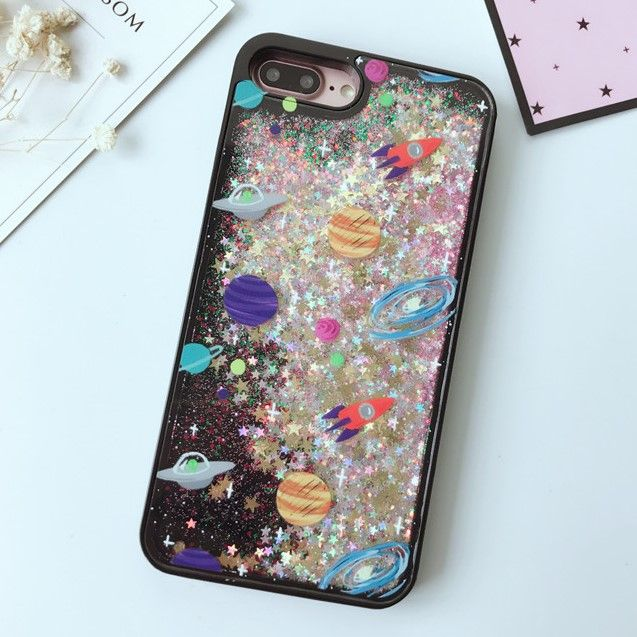 Glitter Black Space Case in 2020 | Aesthetic phone case ...