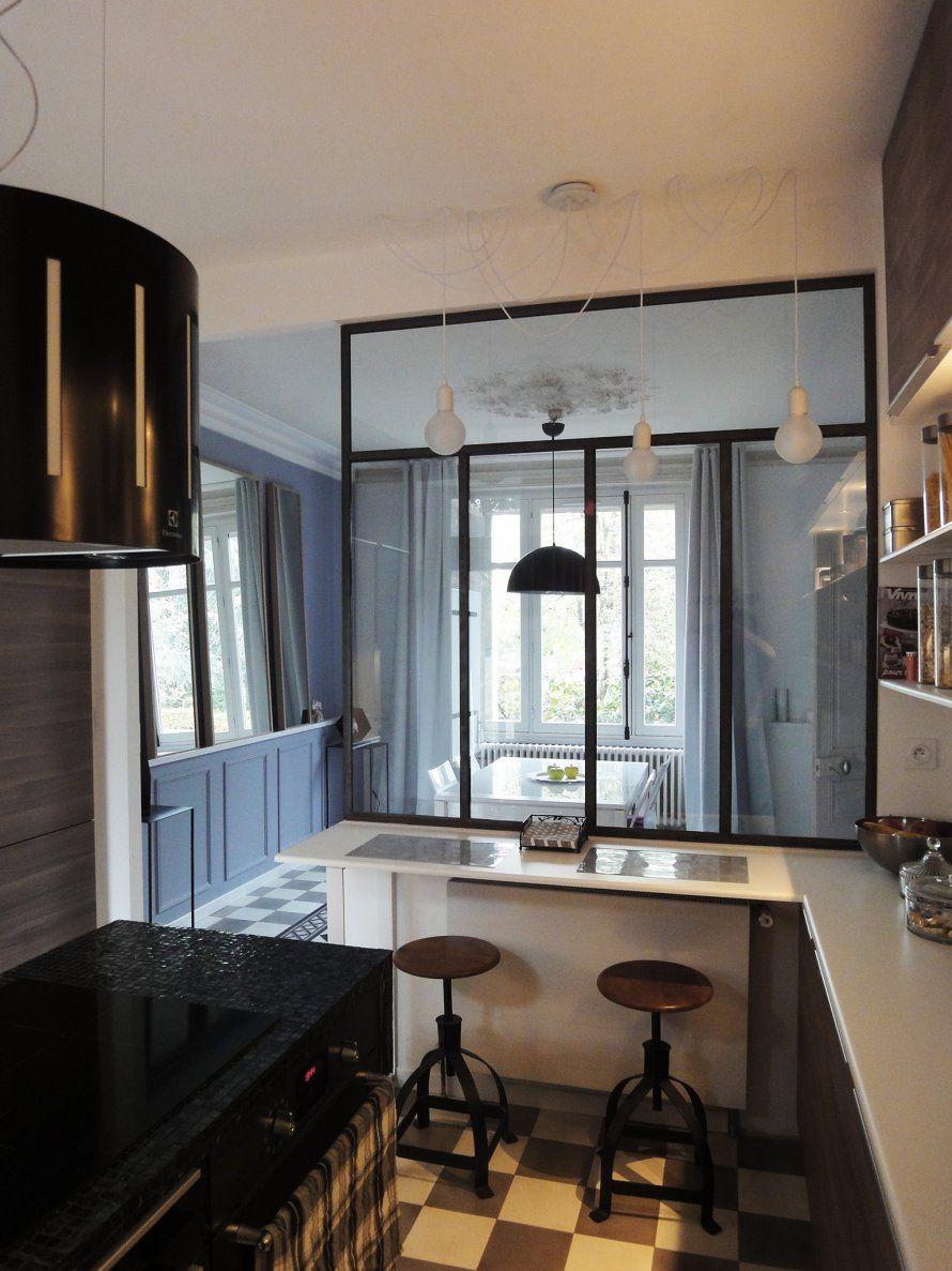 cuisine ouverte sur la salle manger casa nostra pinterest. Black Bedroom Furniture Sets. Home Design Ideas