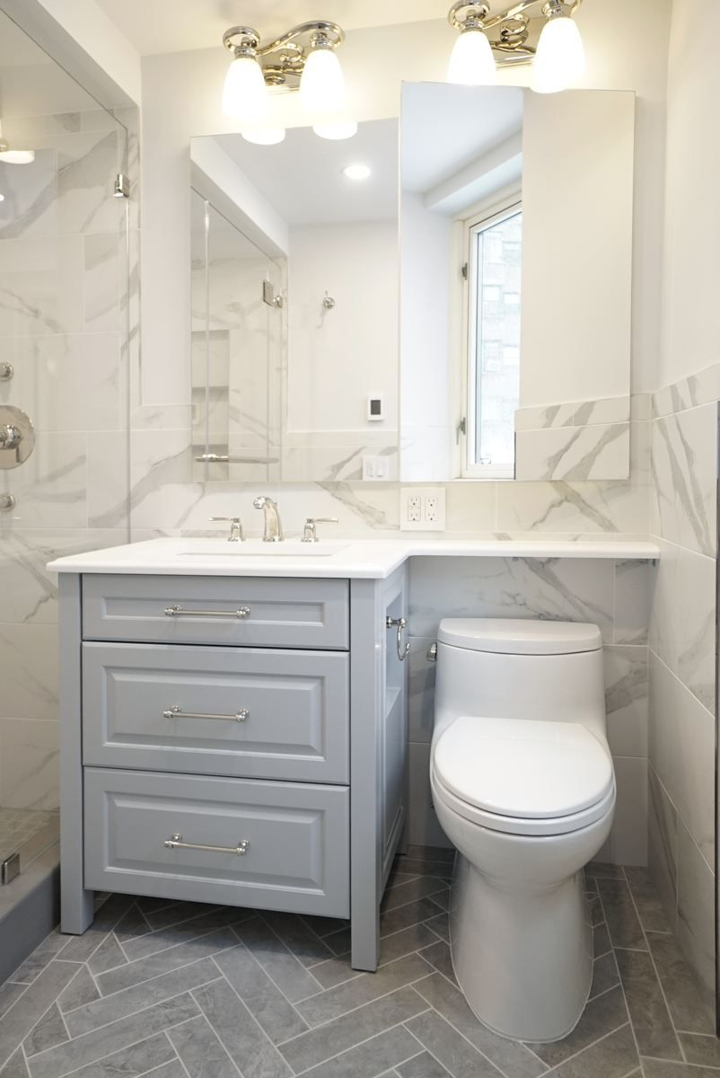 This Tiny Master Bath Converted From Tub To Shower Is Perfectly Planned With Our Custom Van Small Master Bath Custom Bathroom Vanity Tub To Shower Conversion [ 1200 x 802 Pixel ]