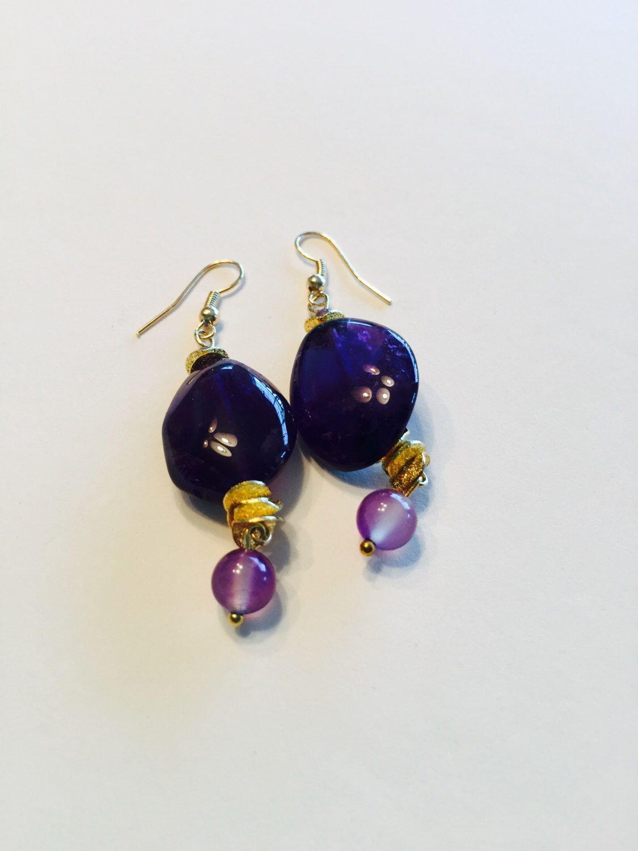 A personal favorite from my Etsy shop https://www.etsy.com/in-en/listing/449290718/amethyst-earrings-semiprecious-amethyst