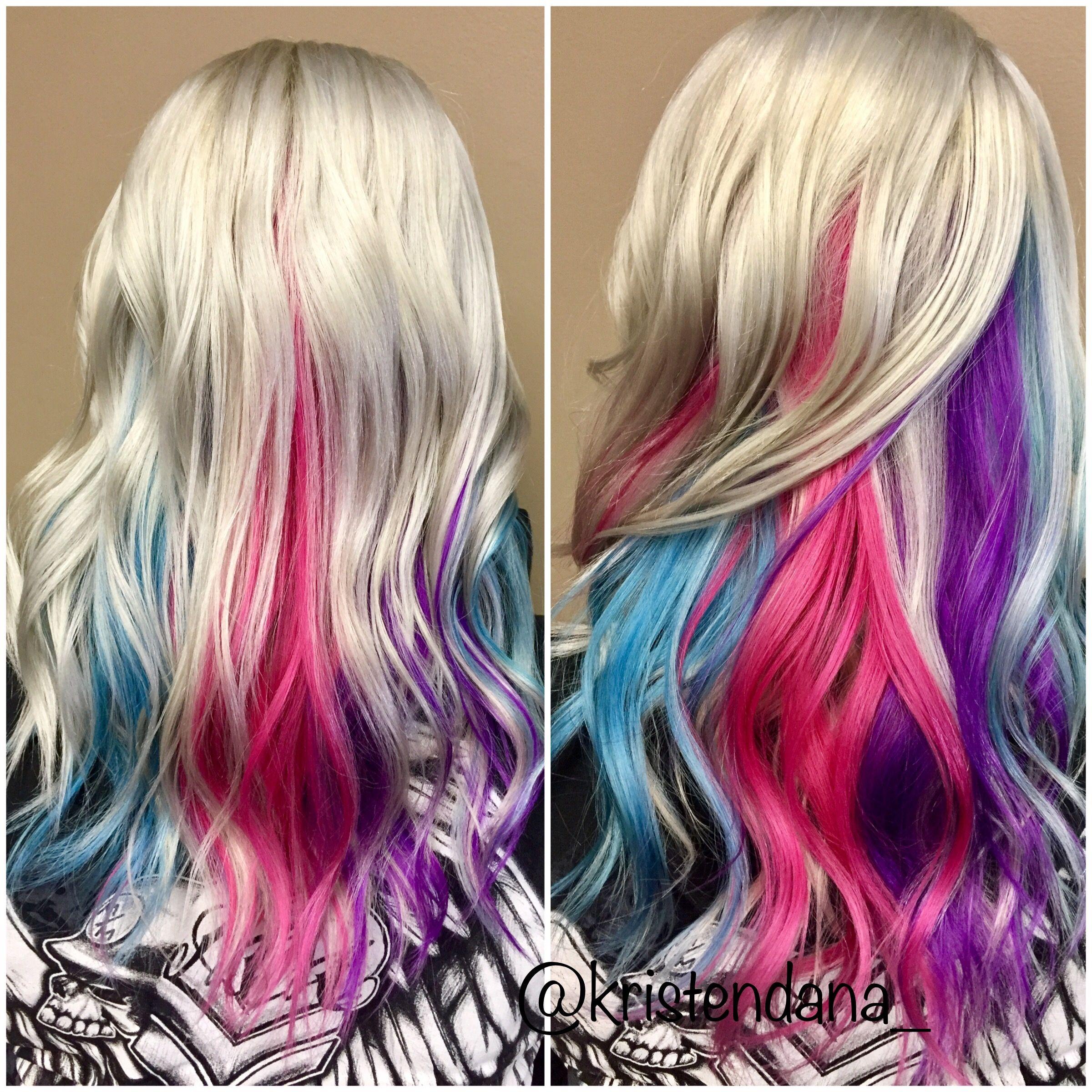 Joico hair color tags color jocio joico - Unicorn Rainbow Hair Using Joico Color Intensity
