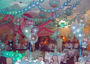 Balloons Decorations Ideas | Home Improvement Ideas For Kids Birthday Party.