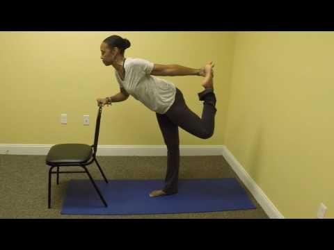 Chair Yoga Dancer Pose