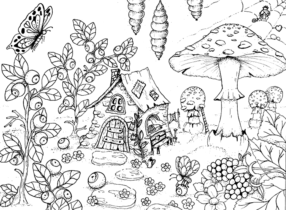 fantasy gnome coloring pages Google Search in 2020