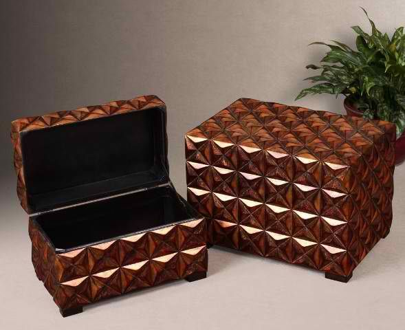 Modern Accent Furniture Uttermost Akino Boxes By Uttermost A