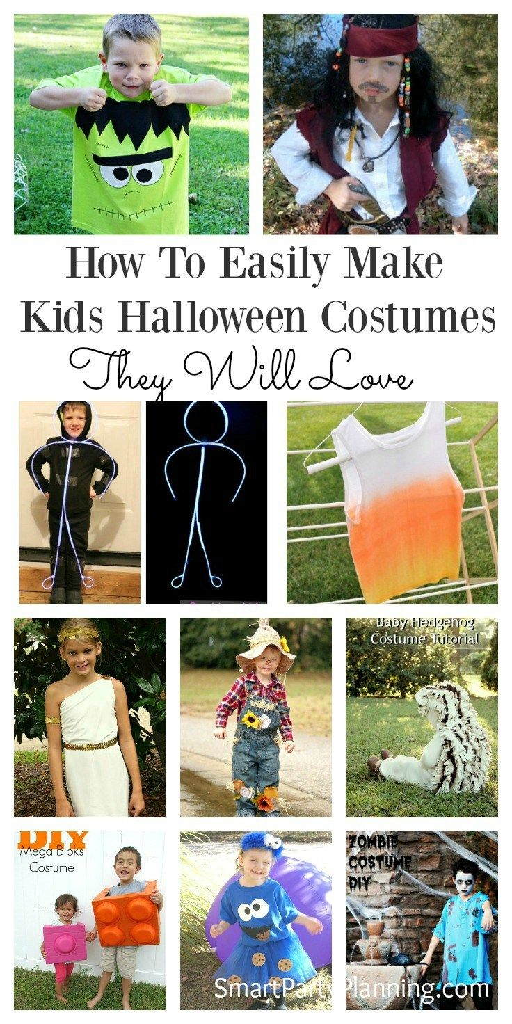 how to easily make kids halloween costumes they will love