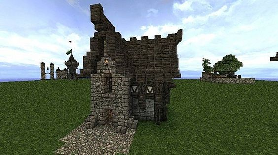 Gothic House Cottage Minecraft Project Minecraft Projects Minecraft Minecraft Blueprints