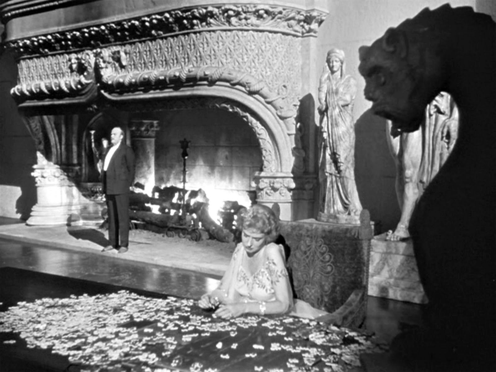 the fireplace in citizen kane 1941 citizen kane 1941