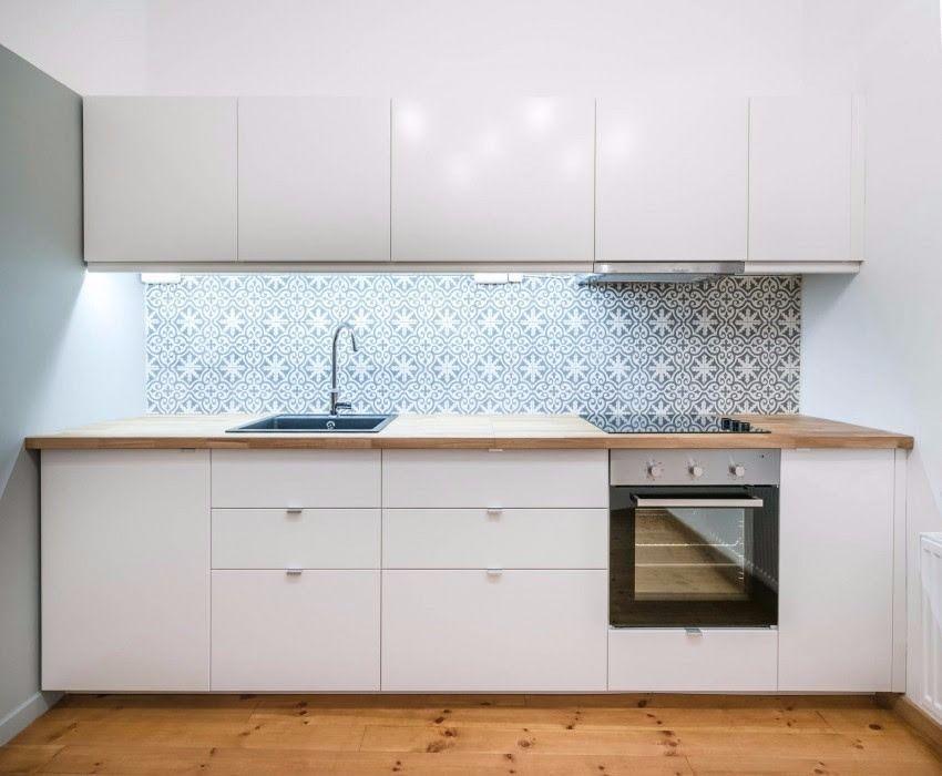 Azulejos Para Cocinas Blancas | Azulejos Azules En Una Cocina Blanca 3 Cocina Pinterest