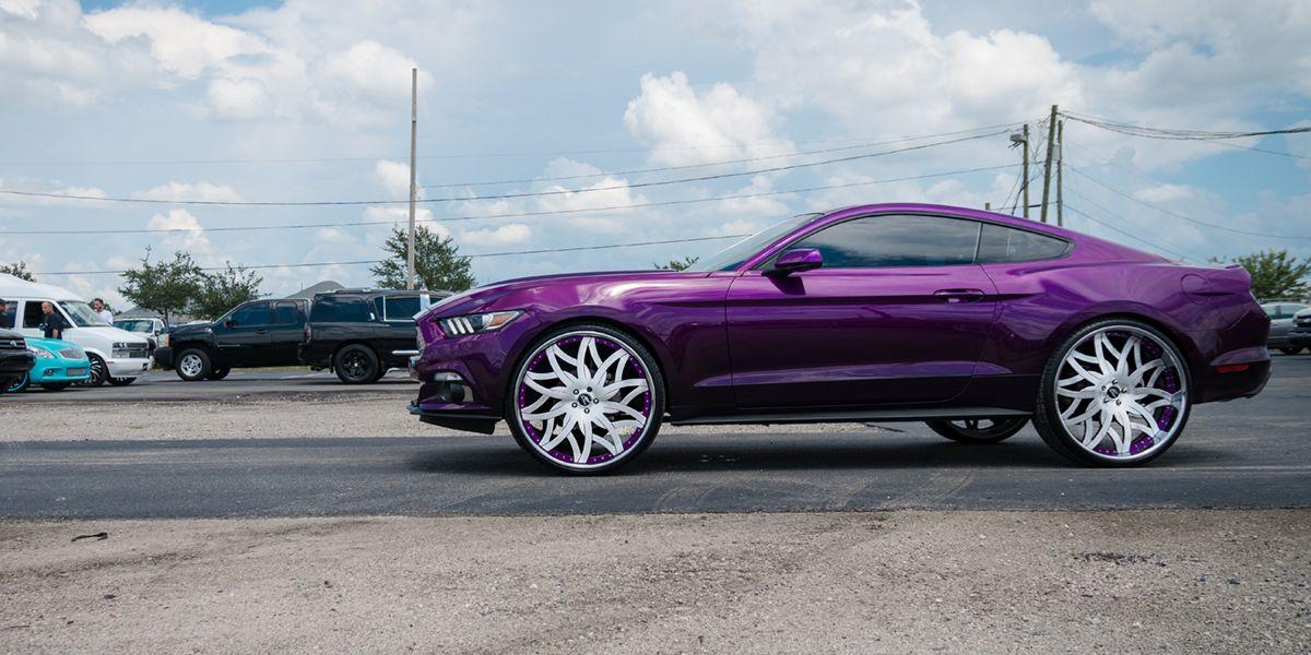 2016 Ford Mustang Custom wheels, Ford mustang
