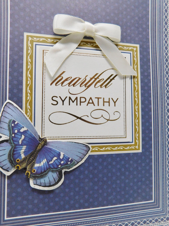 Sympathy Card Heartfelt Sympathy Handmade Greeting From