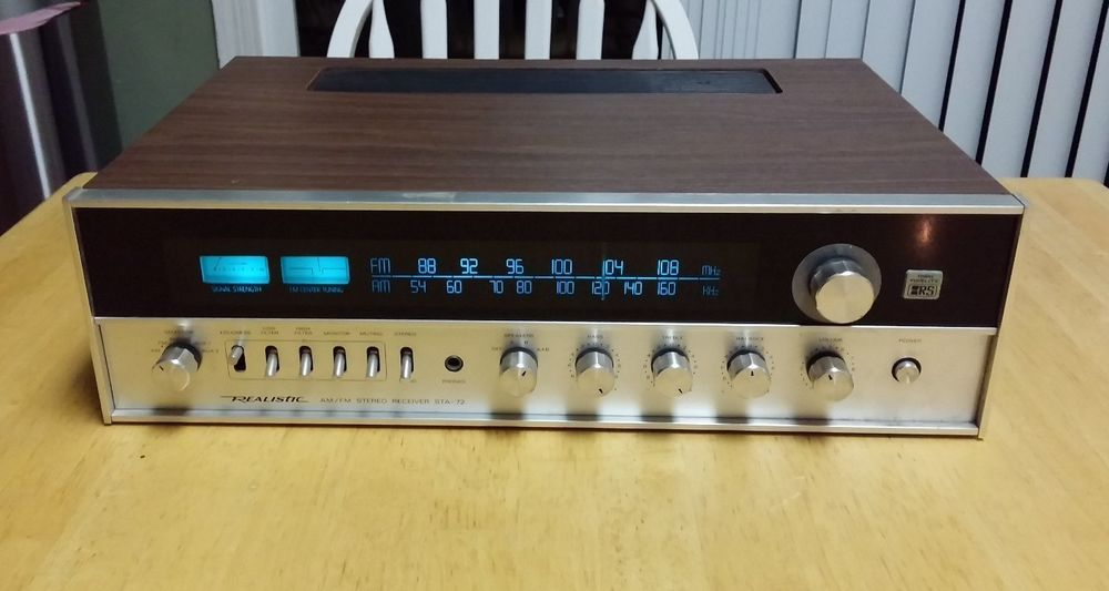 Genial VERY NICE REALISTIC STA 72 STEREO RECEIVER WOOD CABINET ~ DEMO VIDEO  #Realistic