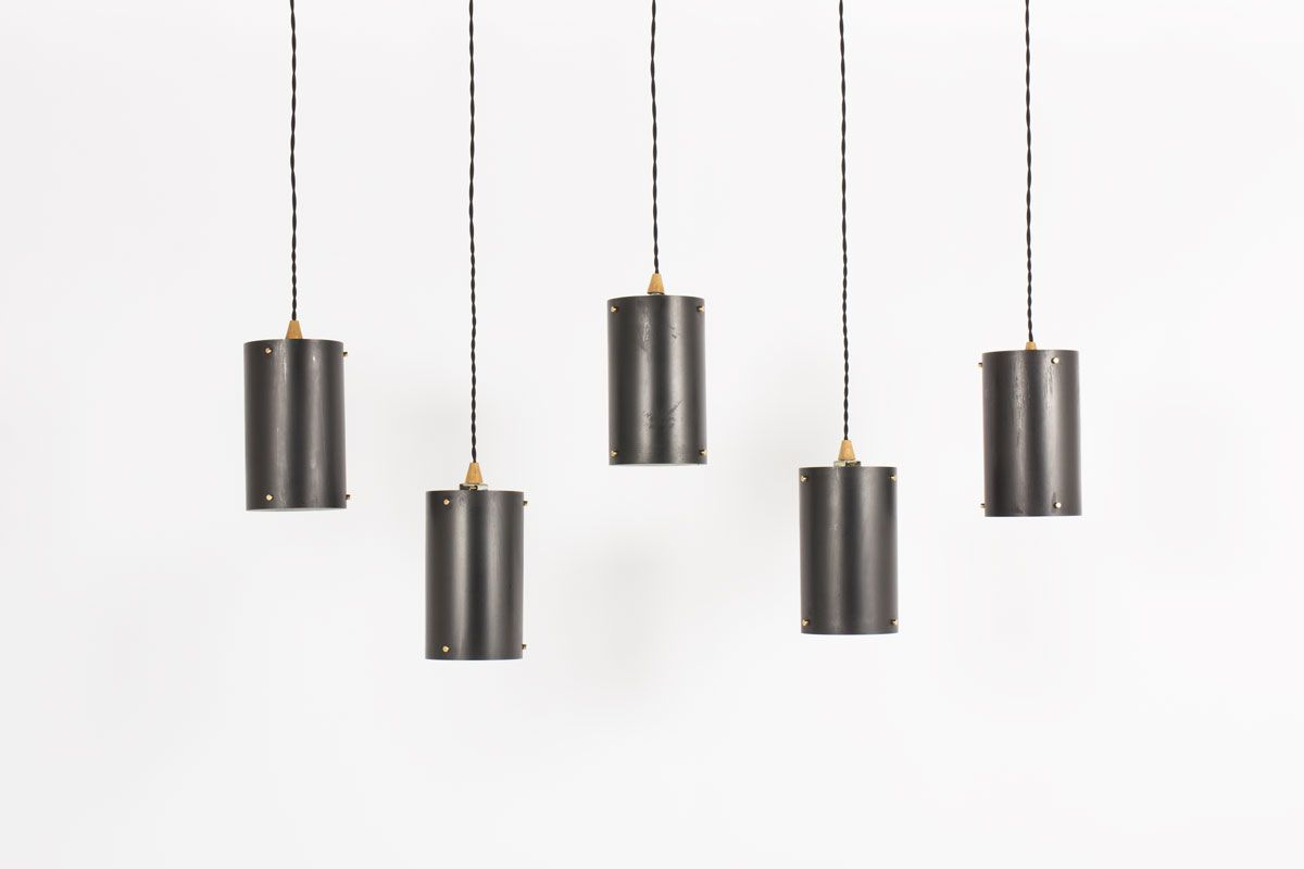 Cylindrical pendant light set of available on