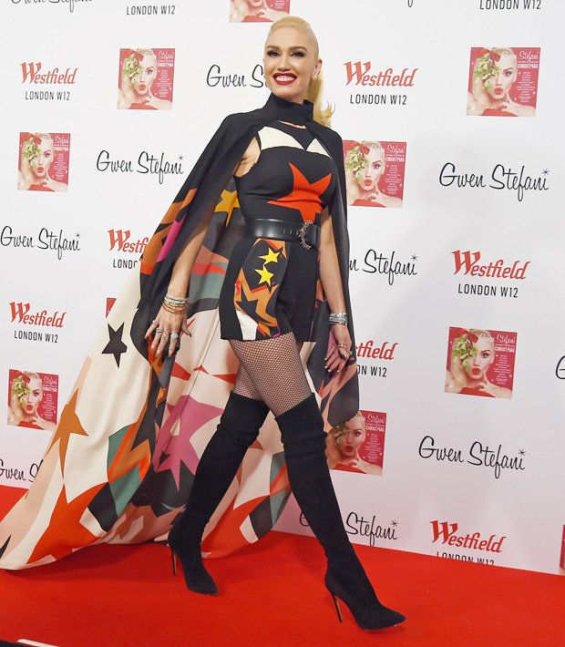 Gwen stefani thigh high pantyhose